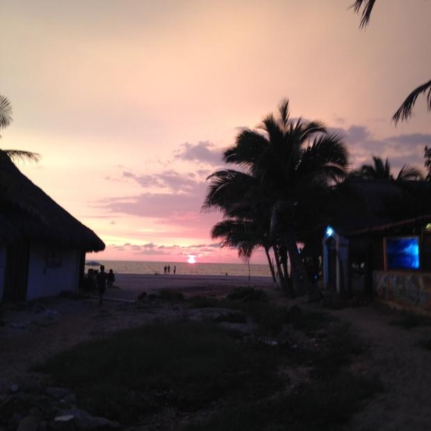 Zachód słońca w La Punta