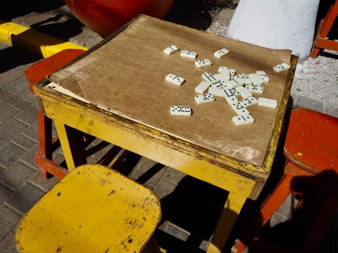 Popularna na Jamajce gra w domino